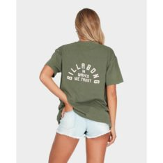 Billabong In Waves We Trust Tee Olive Branch. Billabong Tees found in Womens Tees & Womens T-shirts & Singlets. Code: 6595003