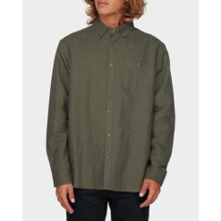 Billabong Linen Long Sleeve Shirt Military. Billabong Shirts - Long Sleeve found in Mens Shirts - Long Sleeve & Mens Shirts. Code: 9595217