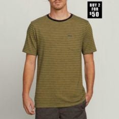 Volcom Stories Crew Vineyard Green. Volcom Tees found in Mens Tees & Mens T-shirts & Singlets. Code: A01118R0