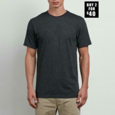 Volcom Solid Short Sleeve Tee Charcoal Heather. Volcom Tees in Mens Tees & Mens T-shirts & Singlets. Code: A5011530