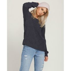 Volcom Chained Up Crew Dark Navy. Volcom Knitwears found in Womens Knitwears & Womens Tops. Code: B0711978