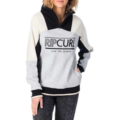 Rip Curl Epic Heights 1/4 Zip Crew Light Grey Heather. Rip Curl Sweats found in Womens Sweats & Womens Jackets, Jumpers & Knits. Code: GFEHW1