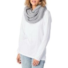 Rip Curl Fuzzy Circular Scarf Light Grey Heather. Rip Curl Beanies And Scarves found in Womens Beanies And Scarves & Womens Headwear. Code: GSABZ1