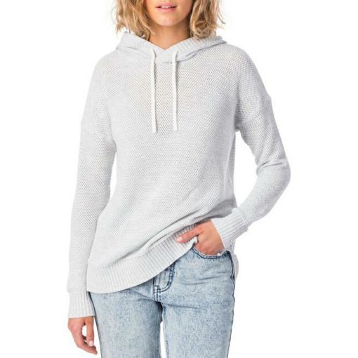 Rip Curl Wanderer Knit Hoody Light Grey Heather. Rip Curl Hoodies found in Womens Hoodies & Womens Jackets, Jumpers & Knits. Code: GSWFN1