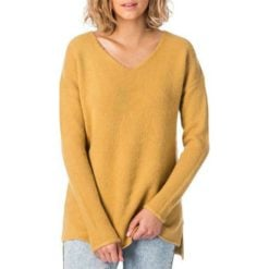 Rip Curl Dew V Neck Sweater Tan. Rip Curl Sweats found in Womens Sweats & Womens Jackets, Jumpers & Knits. Code: GSWGN1