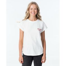 Rip Curl Heritage Tee Off White. Rip Curl Tees found in Womens Tees & Womens T-shirts & Singlets. Code: GTEDJ2