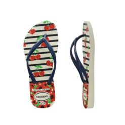 Havaianas Kids Slim Fashion Wht/nv White/navy Blue. Havaianas Thongs found in Toddler Girls Thongs & Toddler Girls Footwear. Code: HKSF0052T