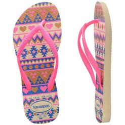 Havaianas Kids Slim Fashion Begpnk Biege/pink. Havaianas Thongs found in Toddler Girls Thongs & Toddler Girls Footwear. Code: HKSF6509