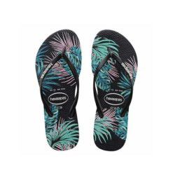Havaianas Kids Slim Floral Tropical Leaf Black Black. Havaianas Thongs found in Toddler Girls Thongs & Toddler Girls Footwear. Code: HKST4137K
