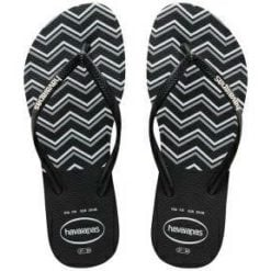 Havaianas Kids Slim Zig Zag Blk/whi Black/white. Havaianas Thongs found in Girls Thongs & Girls Footwear. Code: HKSZ0133K