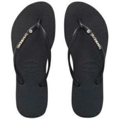 Havaianas Slim Metal Logo Crystal Black/black. Havaianas Thongs found in Womens Thongs & Womens Footwear. Code: HSLC0090