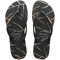 Havaianas Slimmetal Logo Print Leaf Leaf Black Rose Gold. Havaianas Thongs found in Womens Thongs & Womens Footwear. Code: HSLP9443F