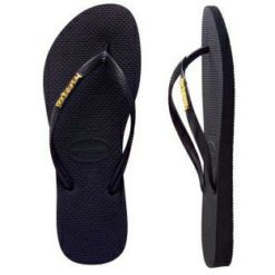 Havaianas Slim Metal Logo Black Gold. Havaianas Thongs found in Womens Thongs & Womens Footwear. Code: HSLS0090F