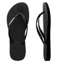 Havaianas Slim Metal Logo Black Silver. Havaianas Thongs found in Womens Thongs & Womens Footwear. Code: HSLS0090F