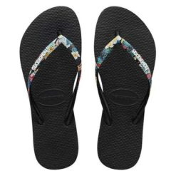 Havaianas Slim Stripped Logo Floral Floral Black. Havaianas Thongs found in Womens Thongs & Womens Footwear. Code: HSPS4100F