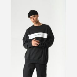 Afends Threads Crew Neck Black. Afends Sweats found in Mens Sweats & Mens Jackets, Jumpers & Knits. Code: M192501