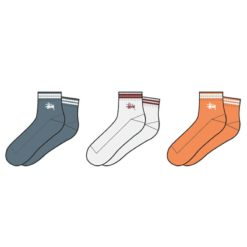 Stussy Track Crew Sock 3pack Multi Coloured. Stussy Socks, Underwear, Pyjamas found in Womens Socks, Underwear, Pyjamas & Womens Footwear. Code: ST796022
