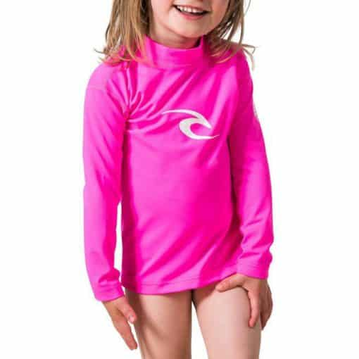 Rip Curl Grom Corpo L/sl Uv Tee Hot Pink. Rip Curl Rashvests found in Toddlers Rashvests & Toddlers Wetsuits. Code: WLY5CO