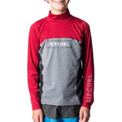 Rip Curl Boys Underline Blade Long Sleeve Burnt Red. Rip Curl Rashvests found in Boys Rashvests & Boys Wetsuits. Code: WLY7AB