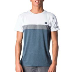 Rip Curl Underline Panel Short Sleeve Uvt White/navy. Rip Curl Rashvests found in Mens Rashvests & Mens Wetsuits. Code: WLY7PM