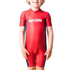 Rip Curl Groms Short Sleeve Uv Spring Red. Rip Curl Rashvests found in Toddlers Rashvests & Toddlers Wetsuits. Code: WLY8EO