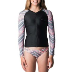 Rip Curl Girls Zip-thru Long Sleeve Uv Black. Rip Curl Rashvests in Girls Rashvests & Girls Wetsuits. Code: WLY8FJ