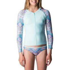 Rip Curl Girls Zip-thru Long Sleeve Uv Light Blue. Rip Curl Rashvests found in Girls Rashvests & Girls Wetsuits. Code: WLY8FJ
