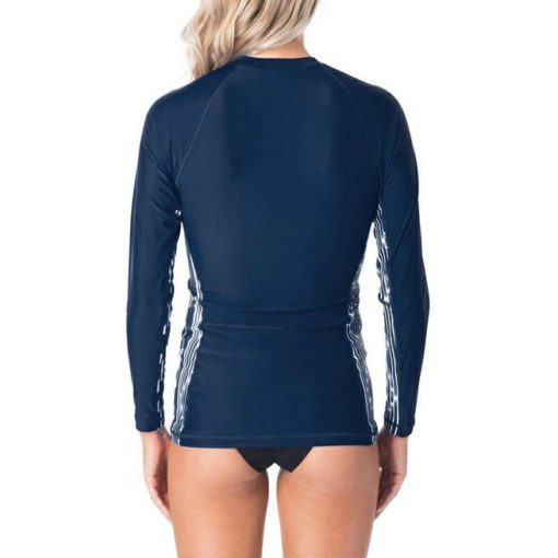 Rip Curl Moontide Zip Through L/s Navy. Rip Curl Rashvests found in Womens Rashvests & Womens Wetsuits. Code: WLY8PW