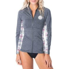 Rip Curl Moontide Zip Through L/s Dark Grey Marle. Rip Curl Rashvests found in Womens Rashvests & Womens Wetsuits. Code: WLY8PW