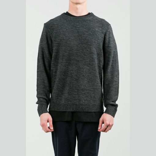 Rusty Skyliner Crew Knit Black Marle. Rusty Knitwears found in Mens Knitwears & Mens Jackets, Jumpers & Knits. Code: CKM0242