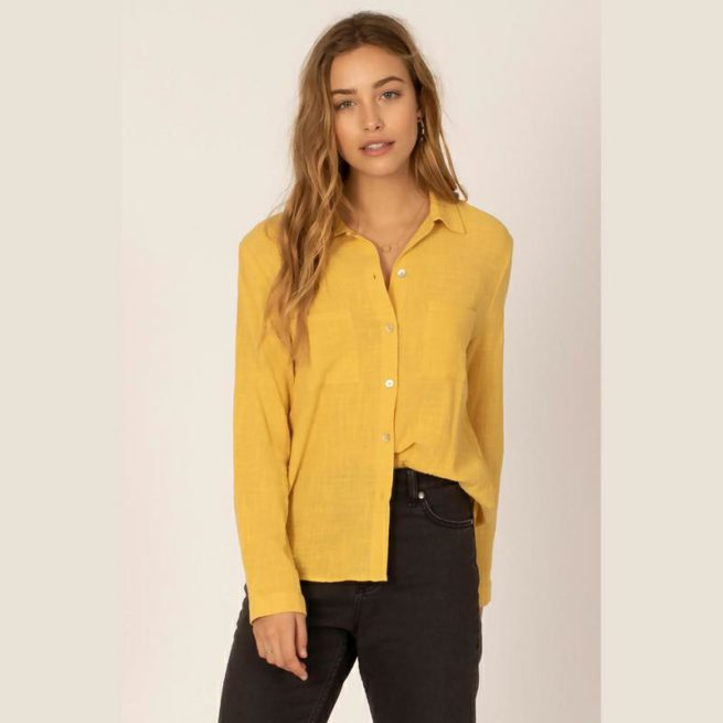Sisstrevolution Breezy Days Long Sleeve Blouse Gld. Sisstrevolution Fashion Tops found in Womens Fashion Tops & Womens Tops. Code: G506MBRE