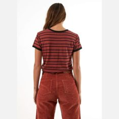 Afends Hemp Basics Stripe Tee Brick. Afends Tees found in Womens Tees & Womens T-shirts & Singlets. Code: W193001
