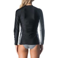 Rip Curl Beach Stripe Long Sleeve Zip Through Black. Rip Curl Rashvests found in Womens Rashvests & Womens Wetsuits. Code: WLY8LW
