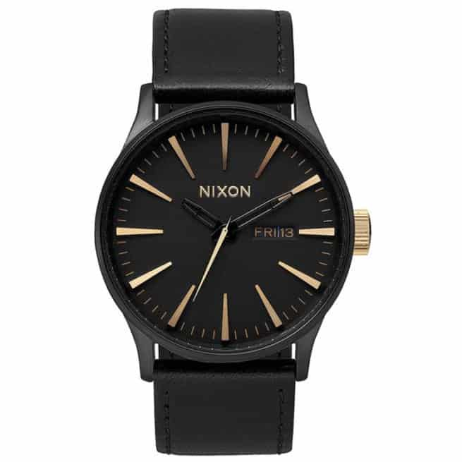 Nixon Sentry Leather Matte Black Gold Matte Black/gold. Nixon Watches found in Mens Watches & Mens Watches. Code: A1051041