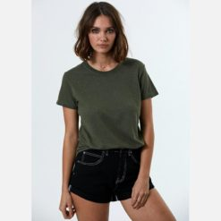 Afends Hemp Basics Tee Milit. Afends Tees found in Womens Tees & Womens T-shirts & Singlets. Code: W191004