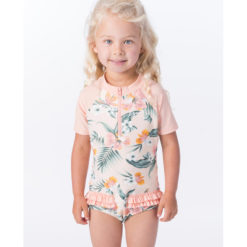 Rip Curl Mini Coconut Time Short Sleeve Suit Peach. Rip Curl Rashvests found in Toddlers Rashvests & Toddlers Wetsuits. Code: WLY9AF