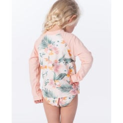 Rip Curl Mini Coconut Time Long Sleeve Set Peach. Rip Curl Rashvests found in Toddlers Rashvests & Toddlers Wetsuits. Code: WLY9BF