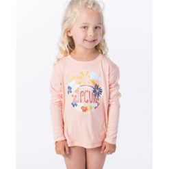 Rip Curl Mini Island Loving Long Sleeve Peach. Rip Curl Rashvests found in Toddlers Rashvests & Toddlers Wetsuits. Code: WLY9GF