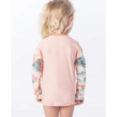 Rip Curl Mini Coconut Time Zip Long Sleeve Peach. Rip Curl Rashvests found in Toddlers Rashvests & Toddlers Wetsuits. Code: WLY9HF