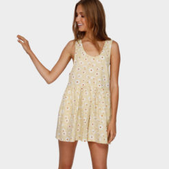 Billabong Cabo Del Sol Playsuit Yellow Fade. Billabong Dresses found in Womens Dresses & Womens Skirts, Dresses & Jumpsuits. Code: 6591509