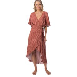 Rip Curl Saffron Skies Wrap Dress Rust. Rip Curl Dresses found in Womens Dresses & Womens Skirts, Dresses & Jumpsuits. Code: GDRHU1