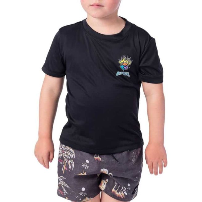 Rip Curl Grom Search Logo Short Sleeve Black Marle. Rip Curl Rashvests found in Toddlers Rashvests & Toddlers Wetsuits. Code: WLY9BO