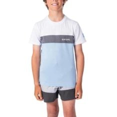 Rip Curl Boys Underline Panel Short Sleeve Blue. Rip Curl Rashvests found in Boys Rashvests & Boys Wetsuits. Code: WLY9FB