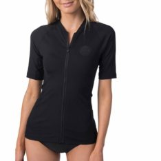 Rip Curl Premium Rib Zip Through Short Sleeve Black. Rip Curl Rashvests found in Womens Rashvests & Womens Wetsuits. Code: WLY9NW