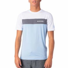 Rip Curl Underline Panel Short Sleeve Uvt Blue. Rip Curl Rashvests found in Mens Rashvests & Mens Wetsuits. Code: WLY9PM