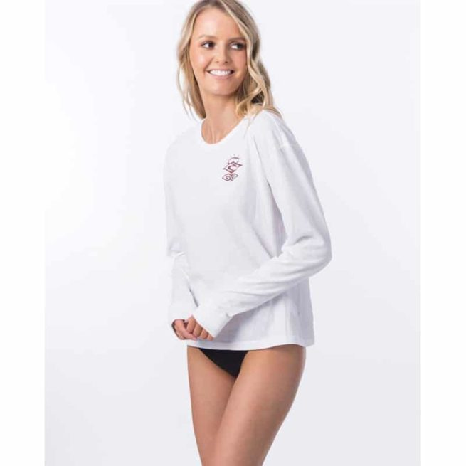 Rip Curl Searchers Poly/cotton Long Sleeve White. Rip Curl Rashvests found in Womens Rashvests & Womens Wetsuits. Code: WLY9QW