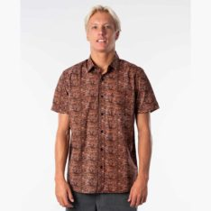 Rip Curl Barrelsnake Short Sleeve Shirt Terracotta (trc). Rip Curl Shirts - Short Sleeve found in Mens Shirts - Short Sleeve & Mens Shirts. Code: CSHMV1