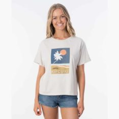 Rip Curl Sunsetters Tee Stone. Rip Curl Tees found in Womens Tees & Womens T-shirts & Singlets. Code: GTEII9