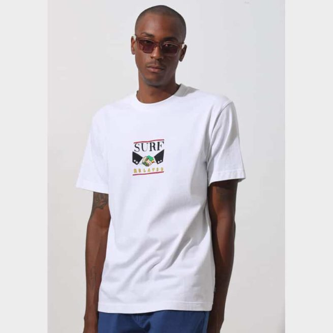 Afends Surf Related Tee White. Afends Tees found in Mens Tees & Mens T-shirts & Singlets. Code: M194002