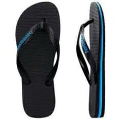 Havaianas Rubber Logo Thongs Black/blue. Havaianas Thongs in Mens Thongs & Mens Footwear. Code: HL7